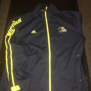 Adidas University of Michigan zip up jacket